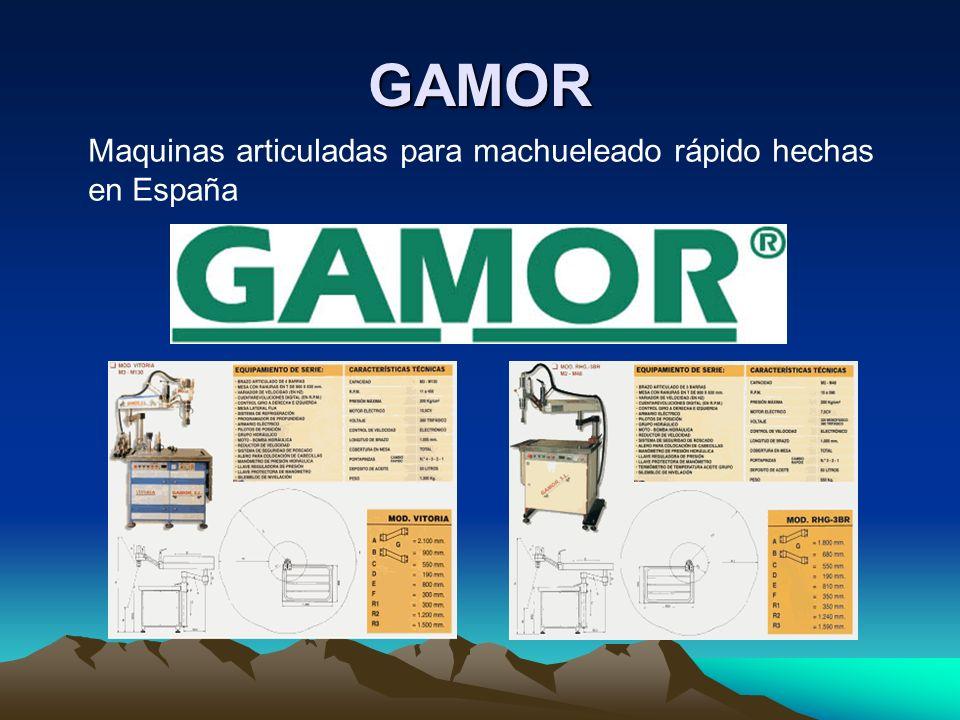 GAMOR Maquinas articuladas para machueleado rápido hechas en España