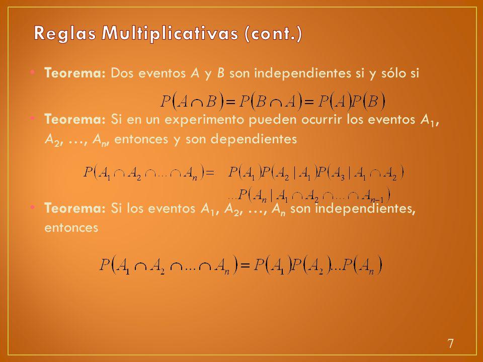 Reglas Multiplicativas (cont.)