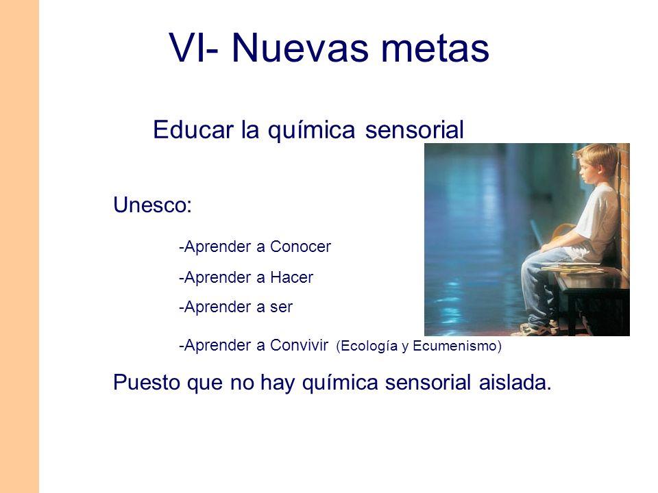 Educar la química sensorial