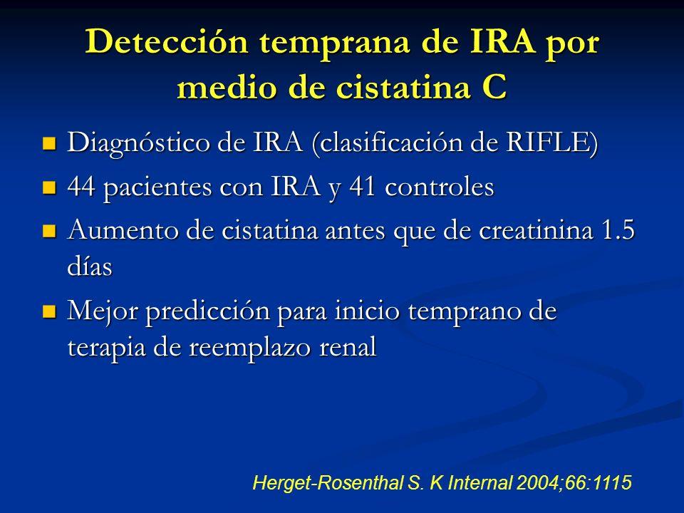 Detección temprana de IRA por medio de cistatina C