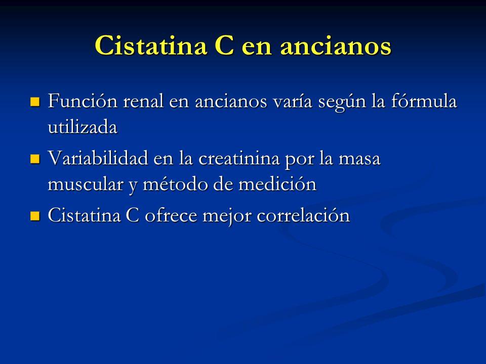 Cistatina C en ancianos