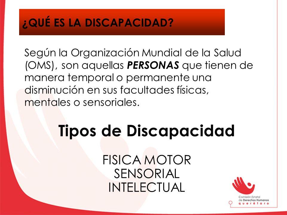 Tipos de Discapacidad ¿Qué es la discapacidad FISICA MOTOR SENSORIAL