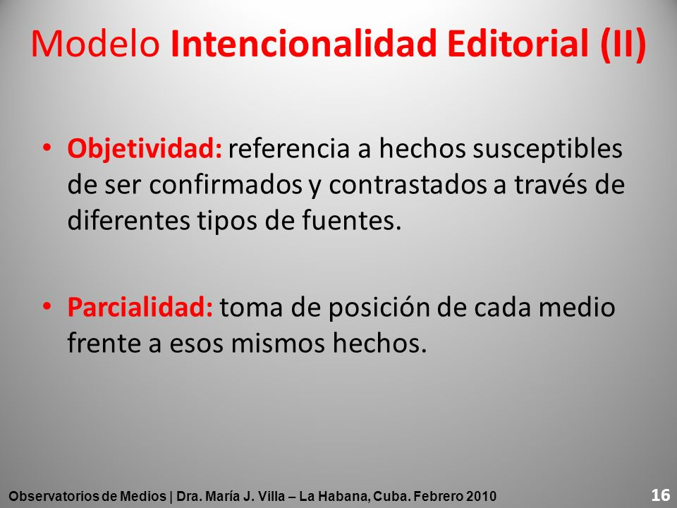 Modelo Intencionalidad Editorial (II)