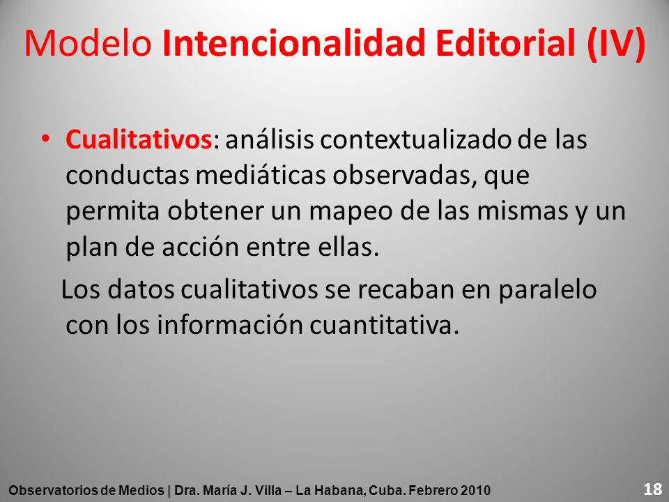 Modelo Intencionalidad Editorial (IV)