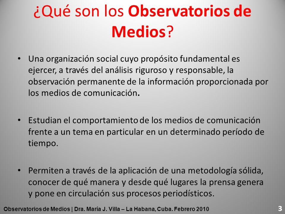 ¿Qué son los Observatorios de Medios