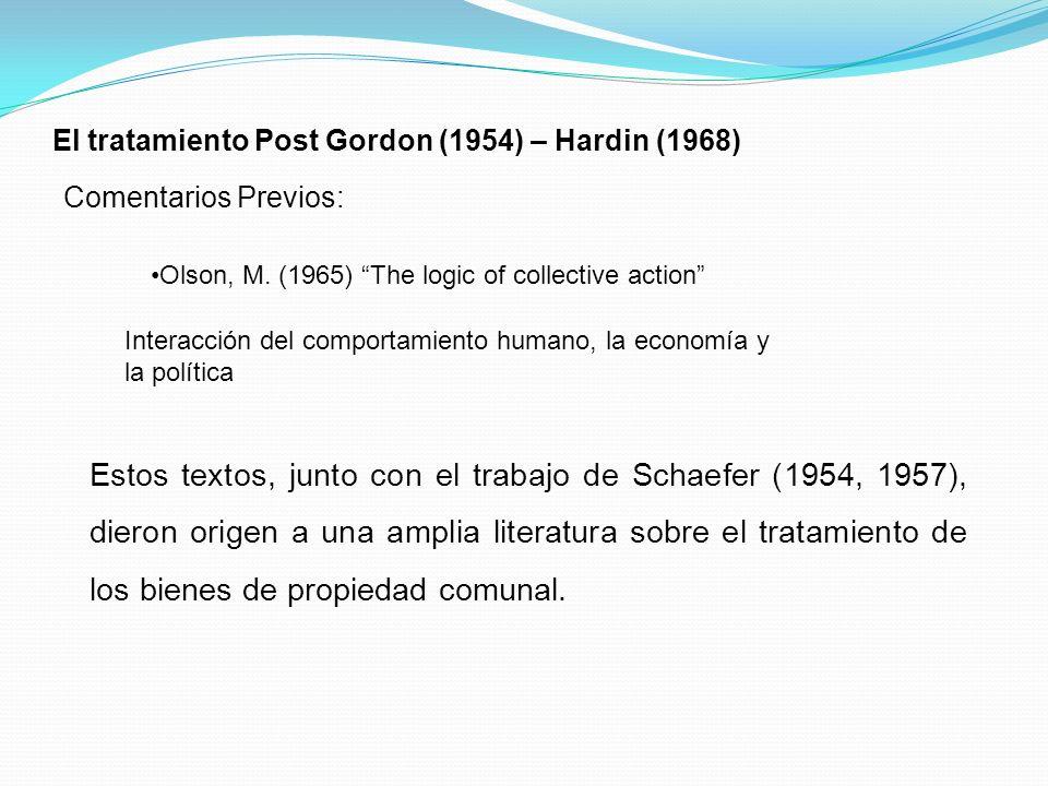 El tratamiento Post Gordon (1954) – Hardin (1968)