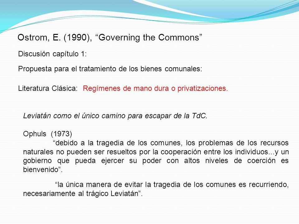 Ostrom, E. (1990), Governing the Commons