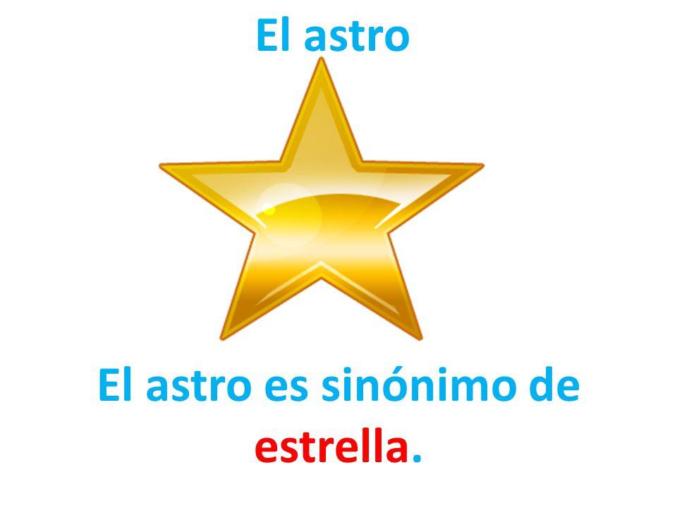 El astro es sinónimo de estrella.