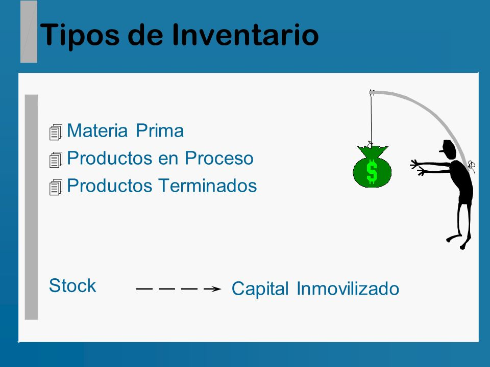 Tipos de Inventario Materia Prima Productos en Proceso