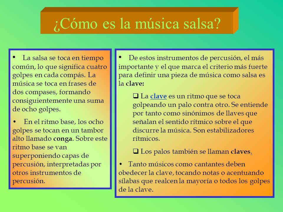 ¿Cómo es la música salsa