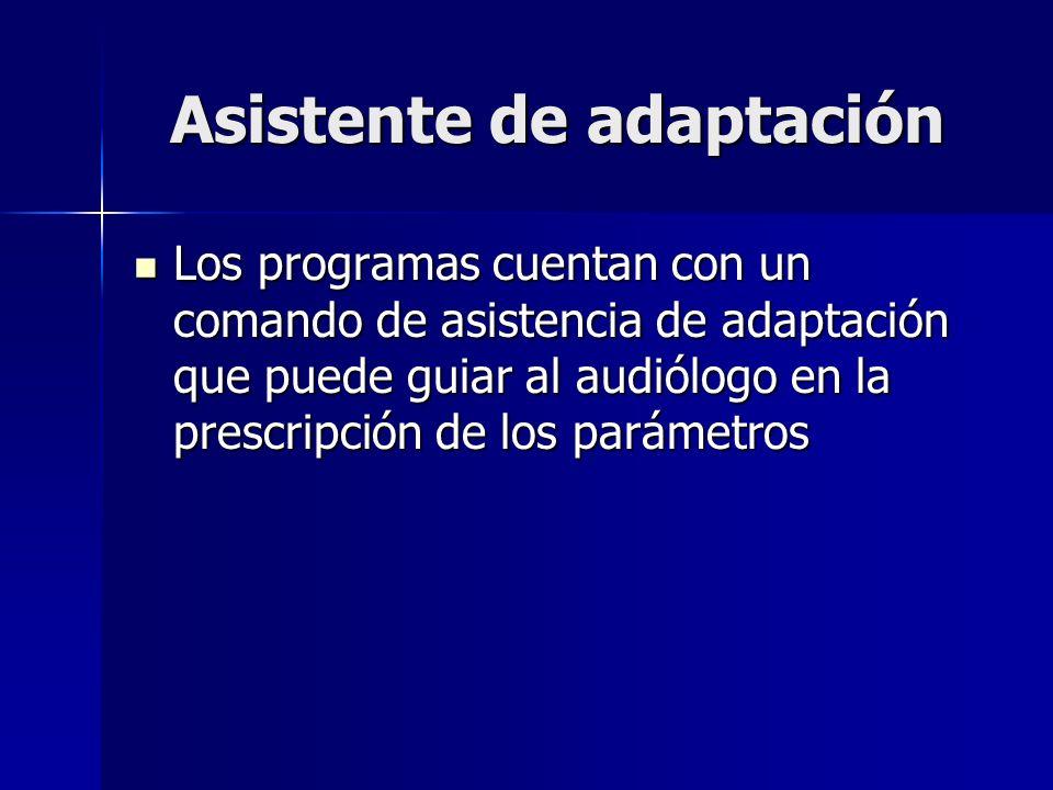 Asistente de adaptación