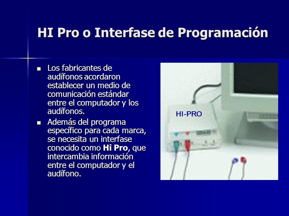 HI Pro o Interfase de Programación