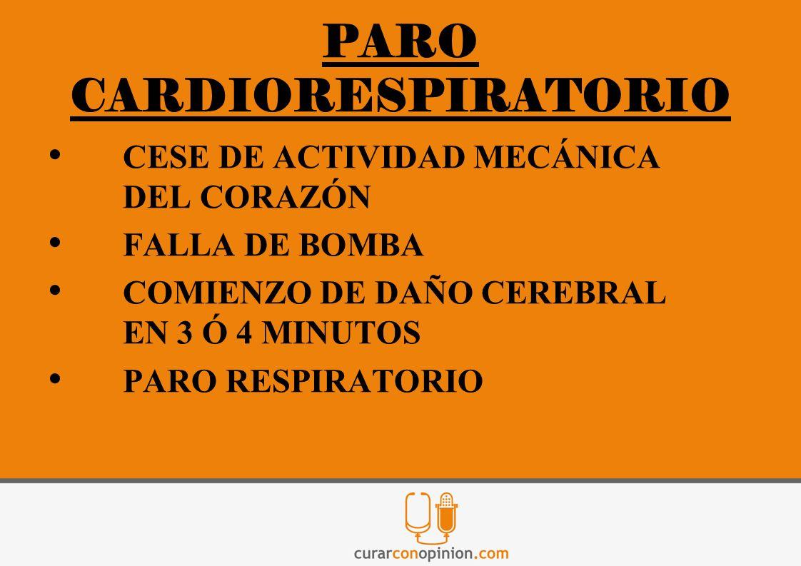 PARO CARDIORESPIRATORIO