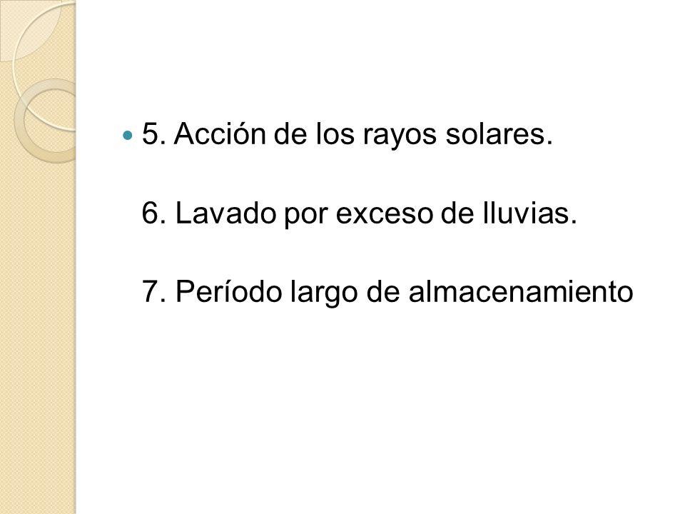 5. Acción de los rayos solares.