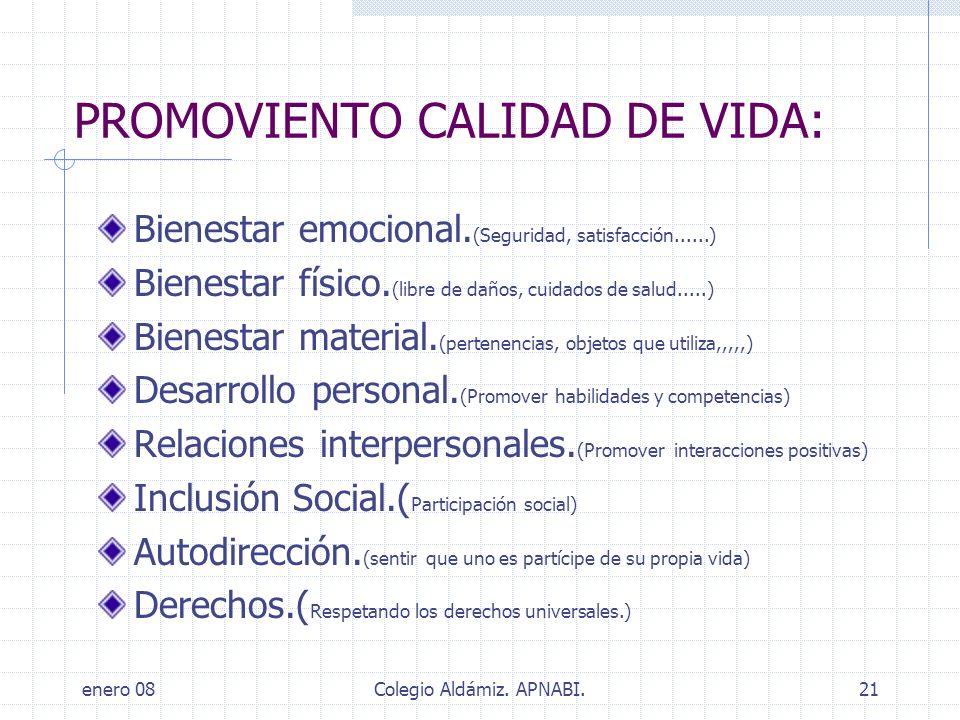 PROMOVIENTO CALIDAD DE VIDA: