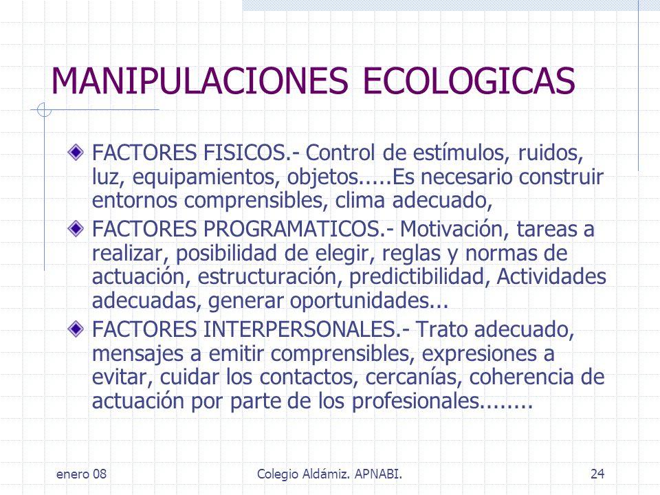 MANIPULACIONES ECOLOGICAS