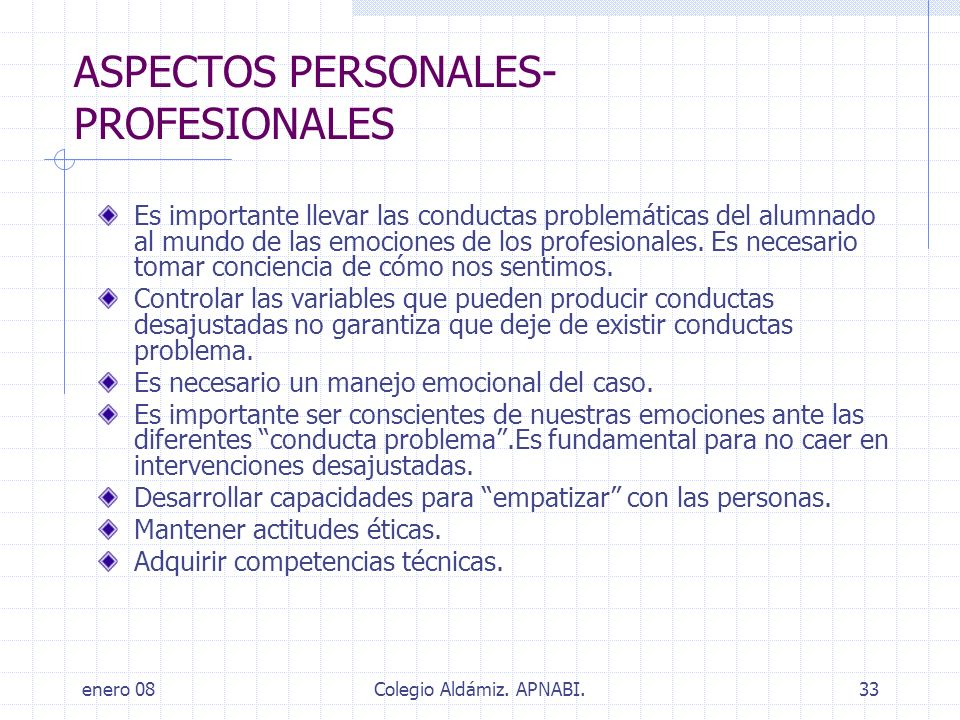 ASPECTOS PERSONALES-PROFESIONALES