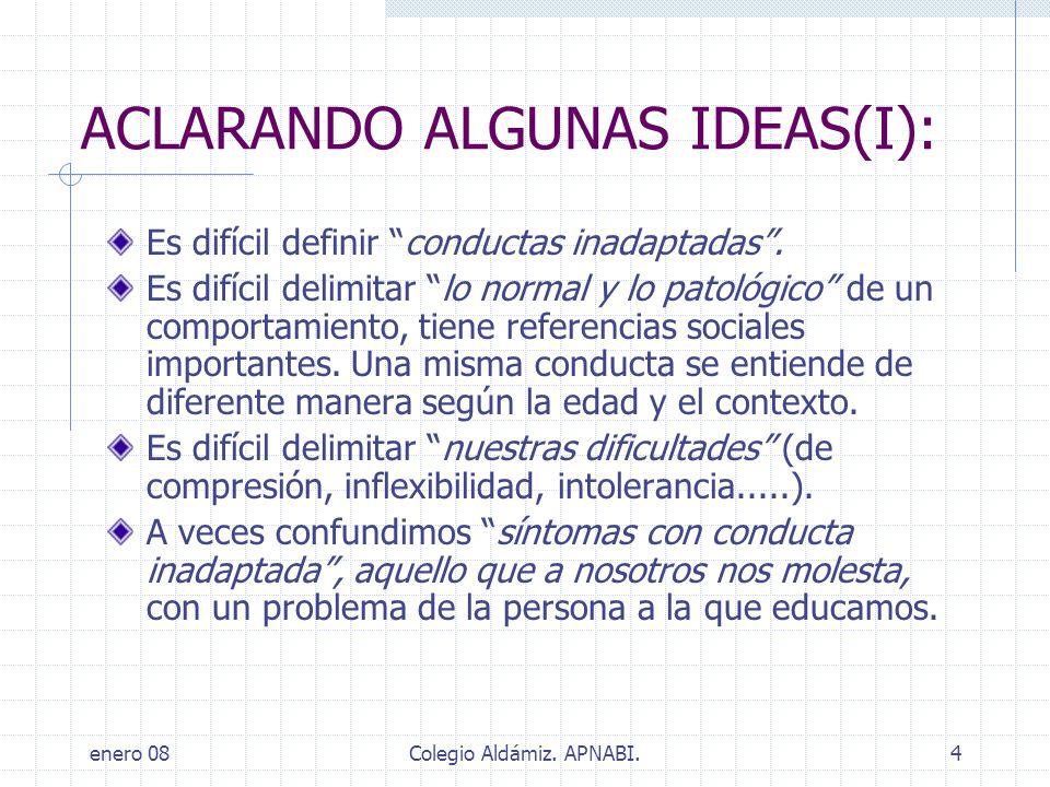 ACLARANDO ALGUNAS IDEAS(I):