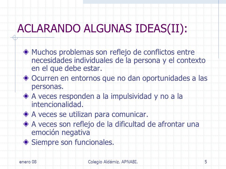 ACLARANDO ALGUNAS IDEAS(II):