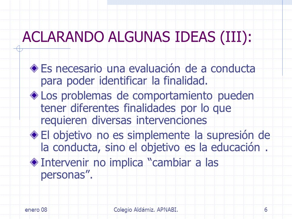 ACLARANDO ALGUNAS IDEAS (III):