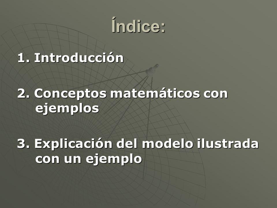 Índice: 1. Introducción 2. Conceptos matemáticos con ejemplos