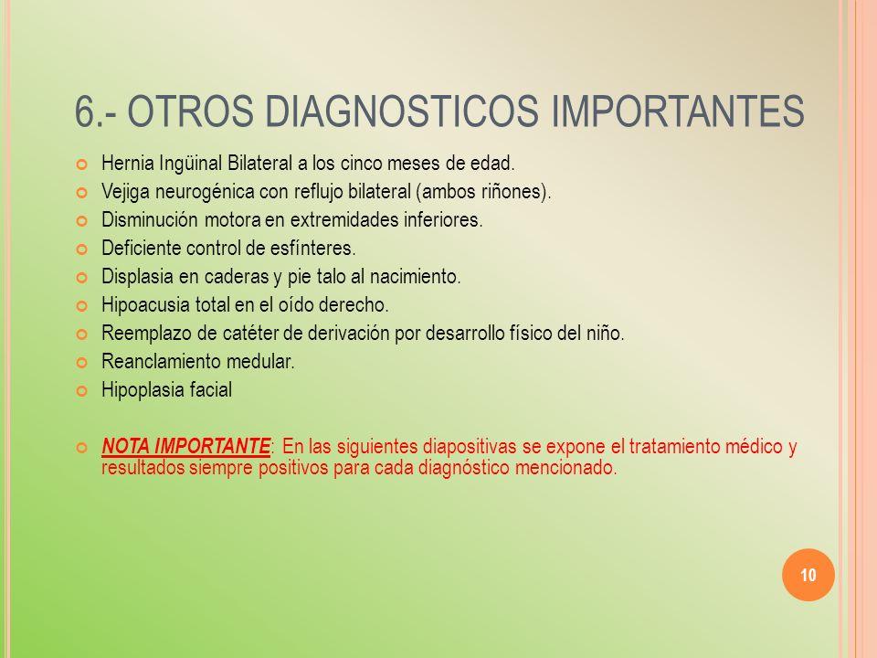 6.- OTROS DIAGNOSTICOS IMPORTANTES