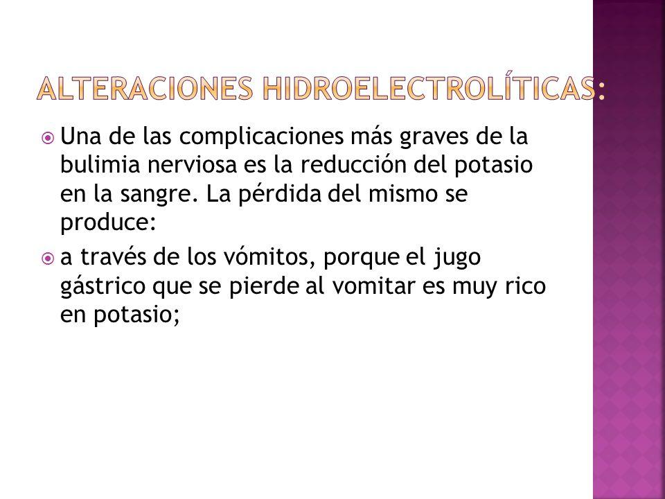 Alteraciones hidroelectrolíticas: