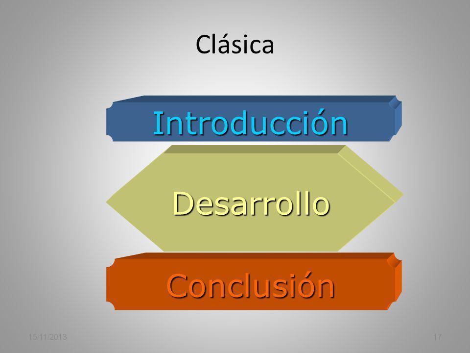 Clásica Introducción Desarrollo Conclusión 23/03/2017