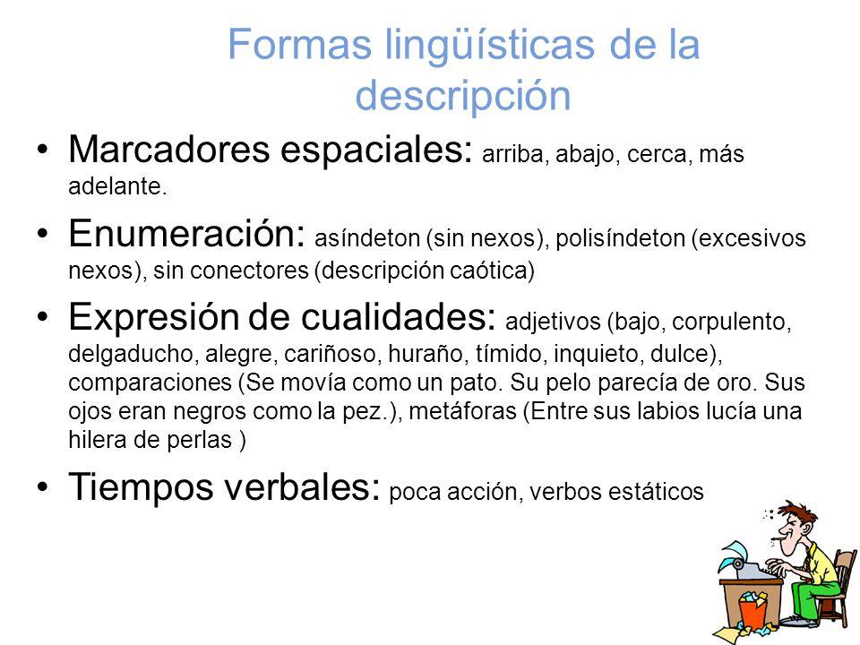 Formas lingüísticas de la descripción