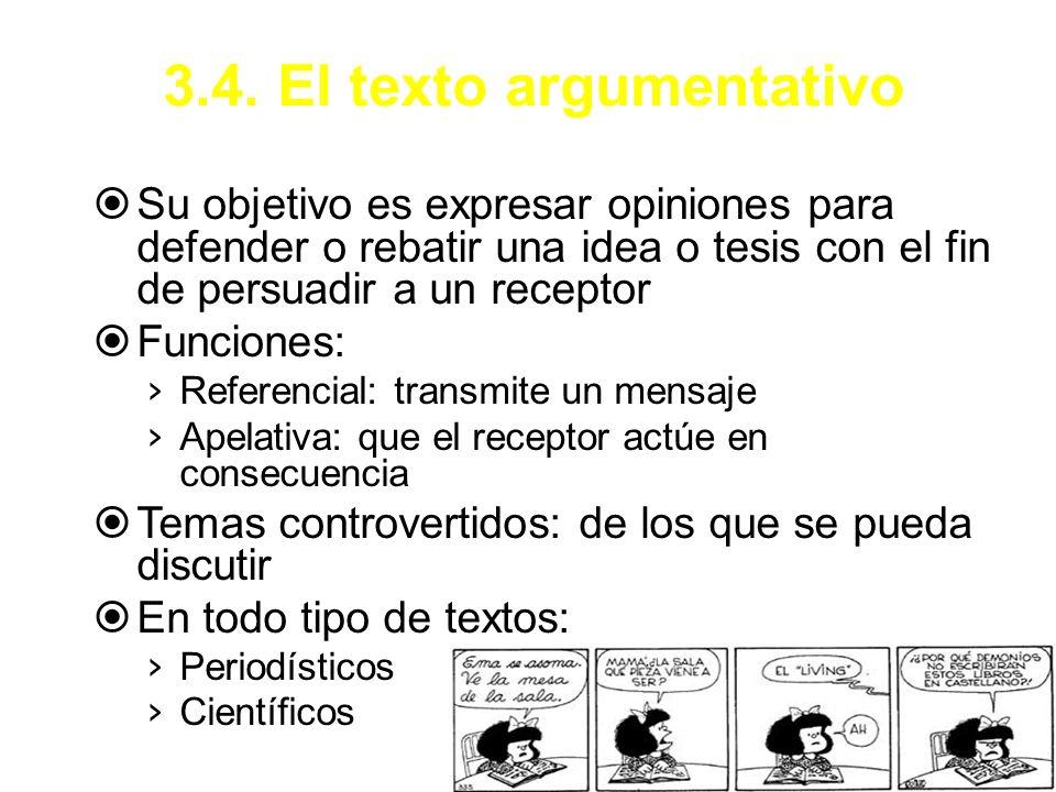 3.4. El texto argumentativo