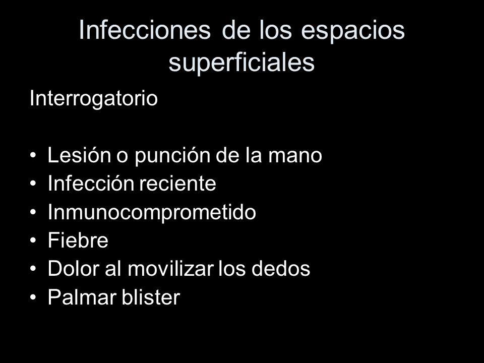Infecciones de los espacios superficiales