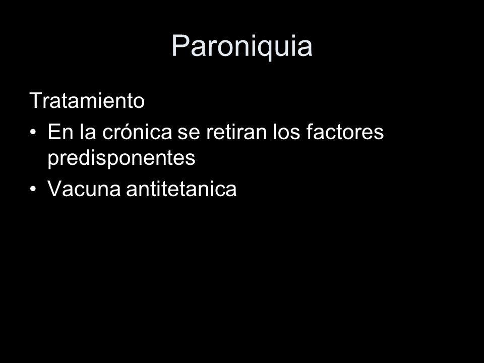 Paroniquia Tratamiento