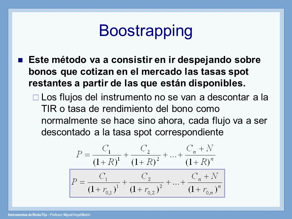 Boostrapping