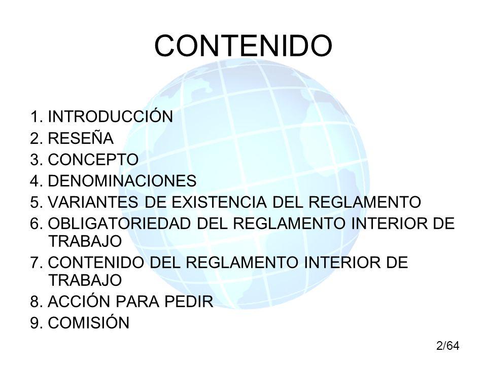CONTENIDO 1. INTRODUCCIÓN 2. RESEÑA 3. CONCEPTO 4. DENOMINACIONES