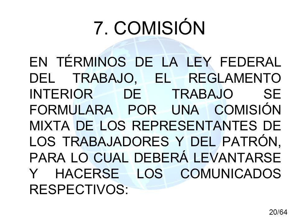 7. COMISIÓN