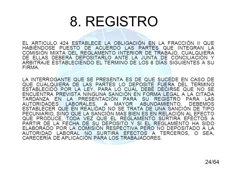 8. REGISTRO