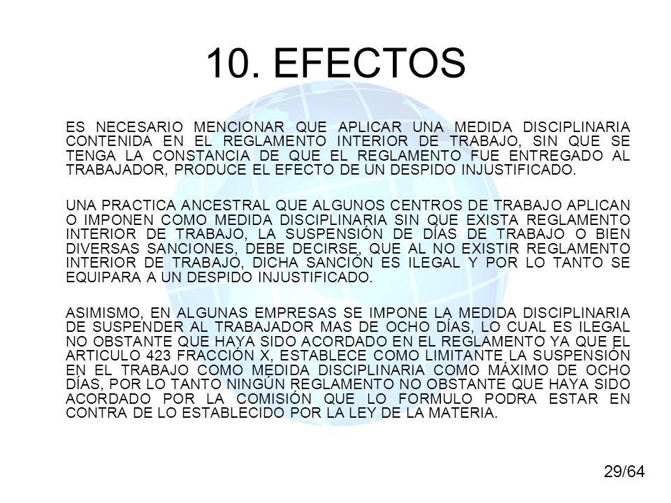 10. EFECTOS