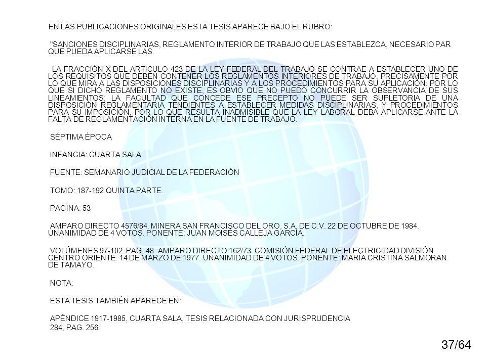 EN LAS PUBLICACIONES ORIGINALES ESTA TESIS APARECE BAJO EL RUBRO: