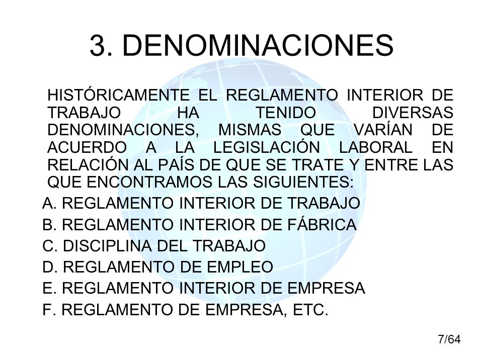 3. DENOMINACIONES