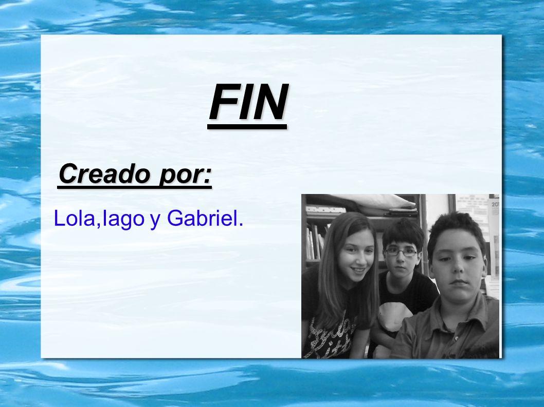 FIN Creado por: Lola,Iago y Gabriel.