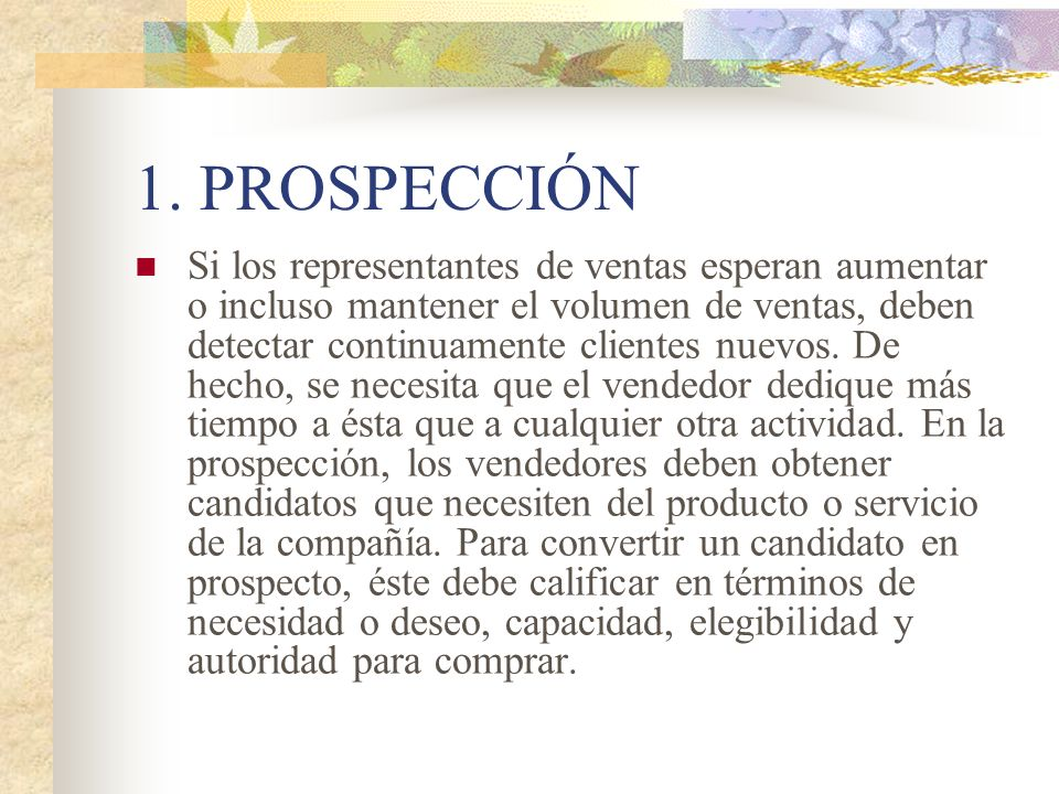 1. PROSPECCIÓN
