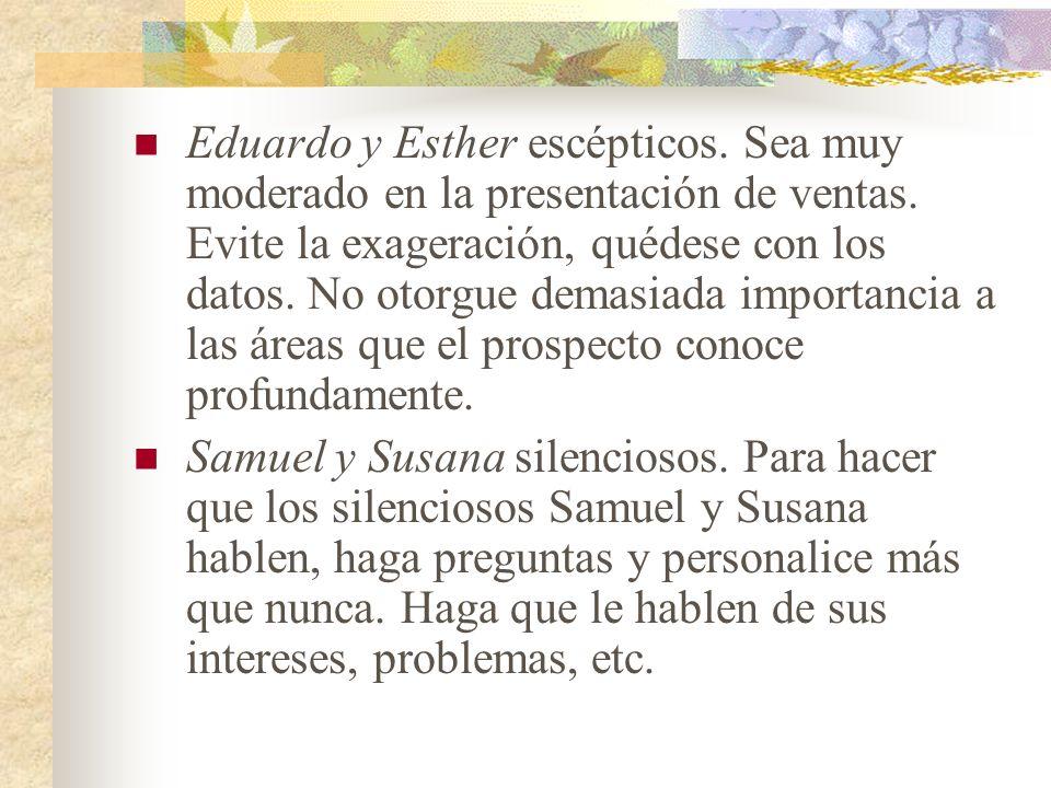 Eduardo y Esther escépticos