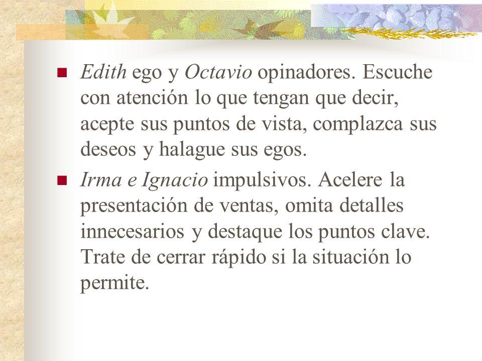 Edith ego y Octavio opinadores