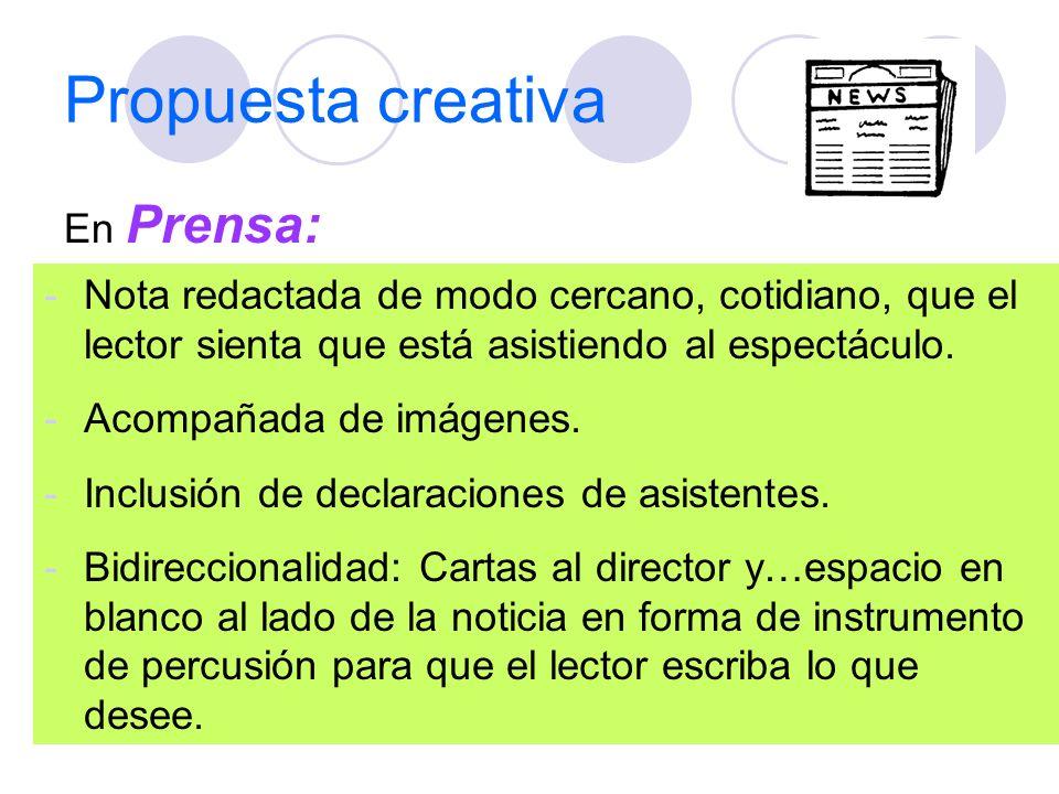 Propuesta creativa En Prensa: