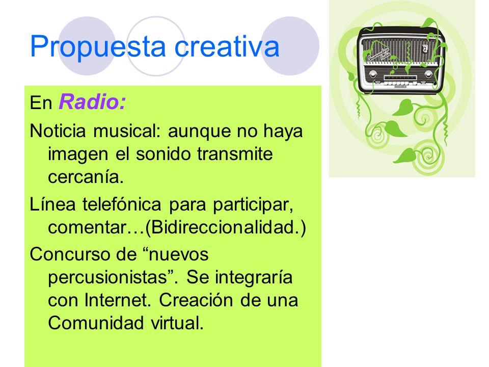 Propuesta creativa En Radio: