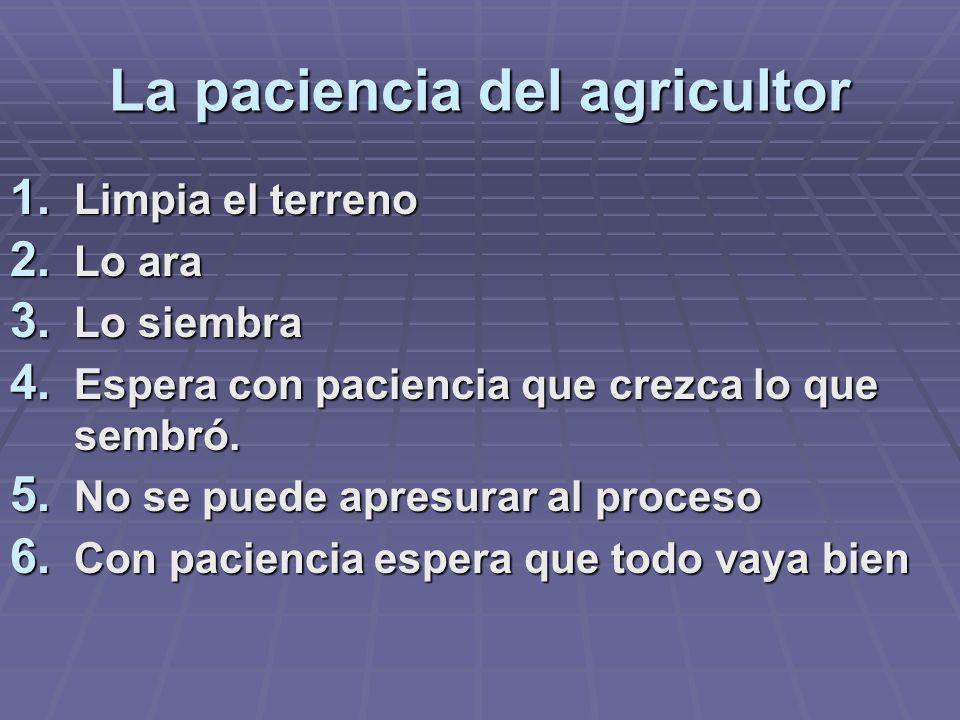 La paciencia del agricultor
