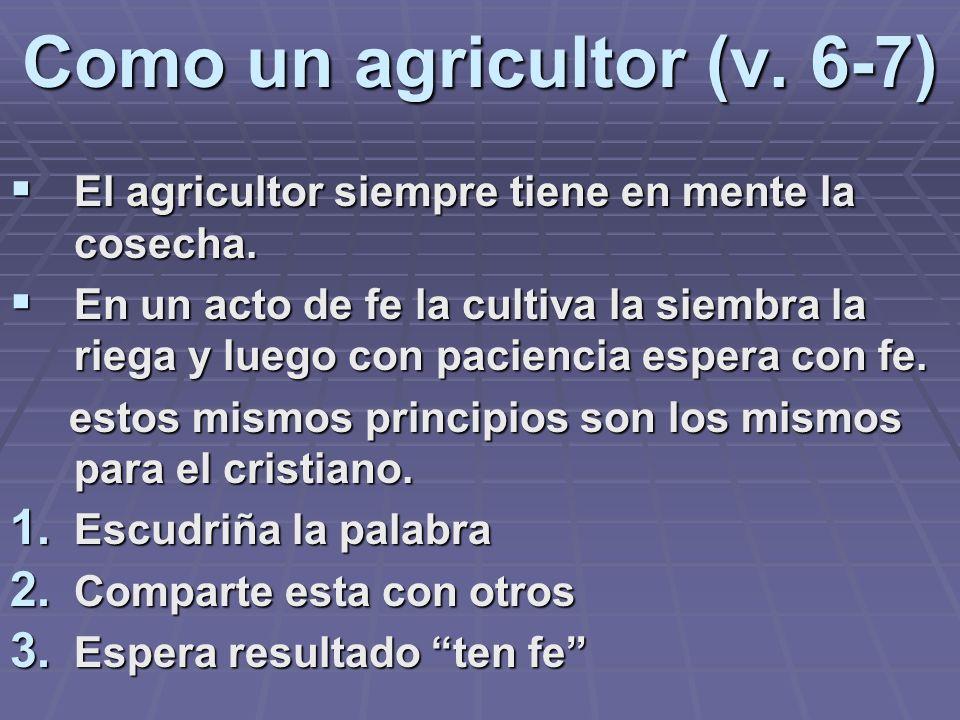 Como un agricultor (v. 6-7)