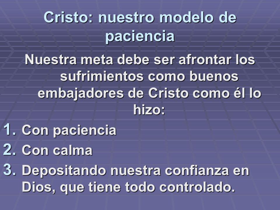 Cristo: nuestro modelo de paciencia