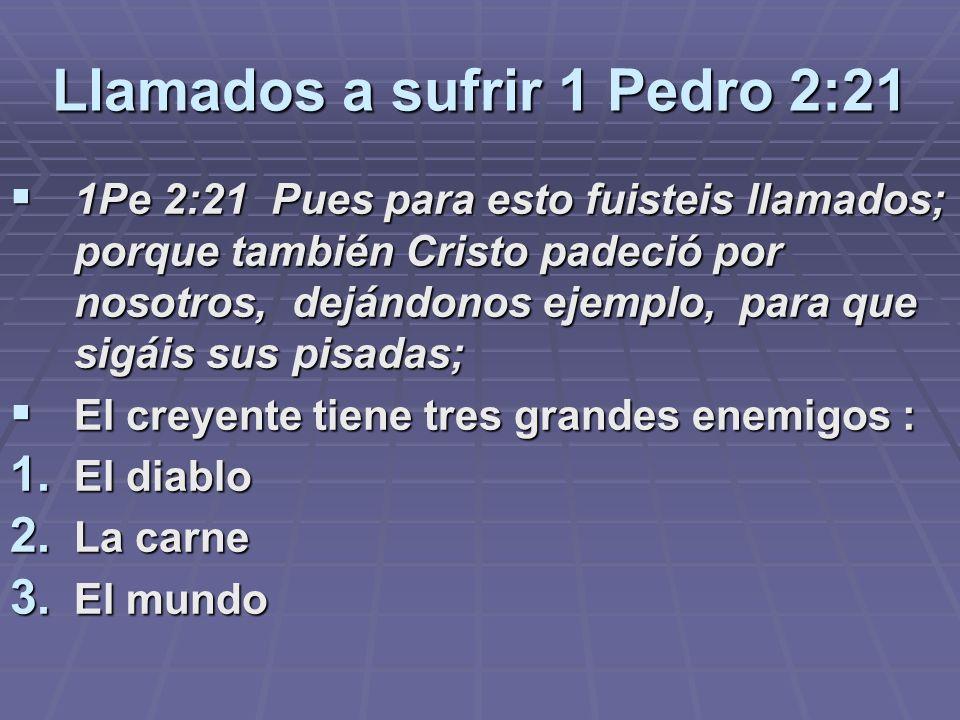 Llamados a sufrir 1 Pedro 2:21