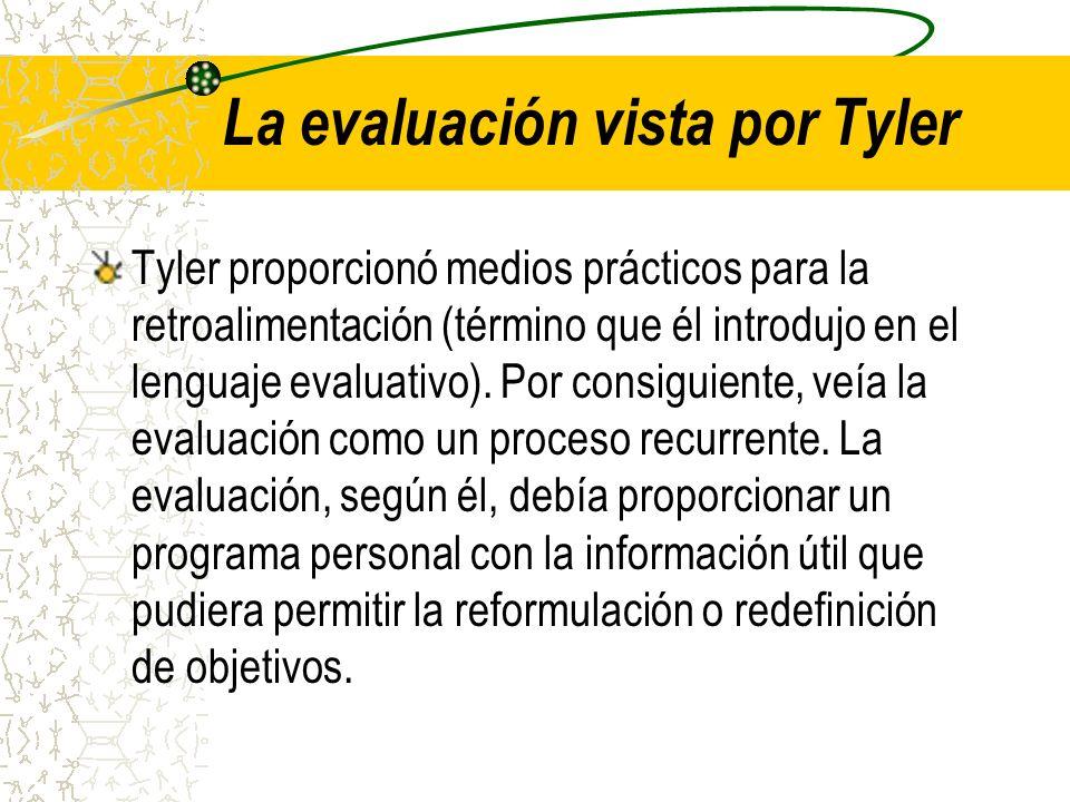 La evaluación vista por Tyler